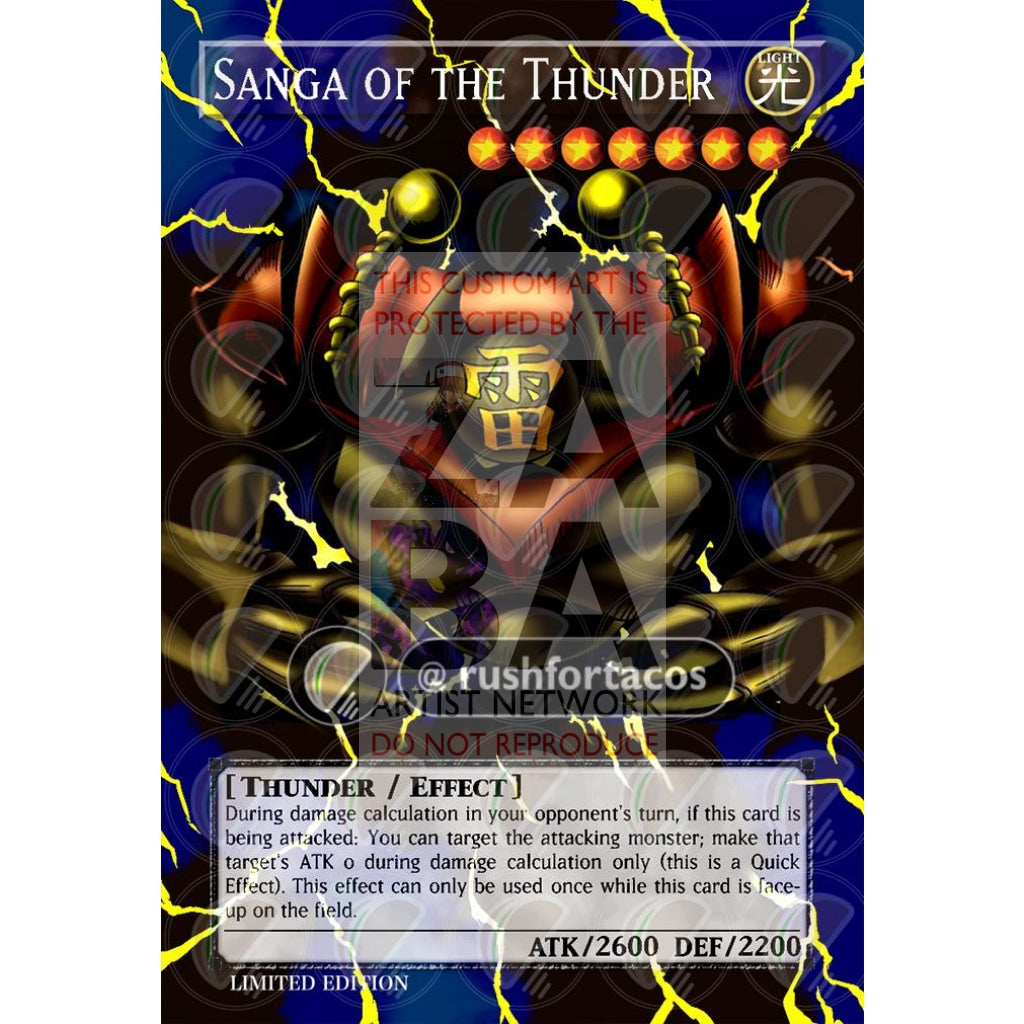 Sanga Of The Thunder Mrd-025 Full Art Orica - Custom Yu-Gi-Oh! Card
