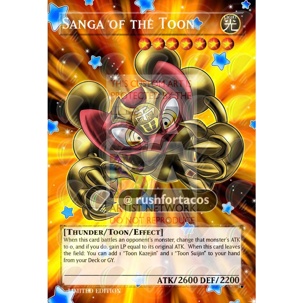 Sanga Of The Toon Full Art Orica - Custom Yu-Gi-Oh! Card