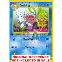 Seaking 46/64 Jungle Set Extended Art Custom Pokemon Card
