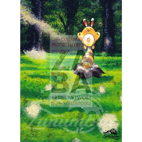 Sentret 71/111 Neo Genesis Extended Art Custom Pokemon Card Textless Silver Holographic
