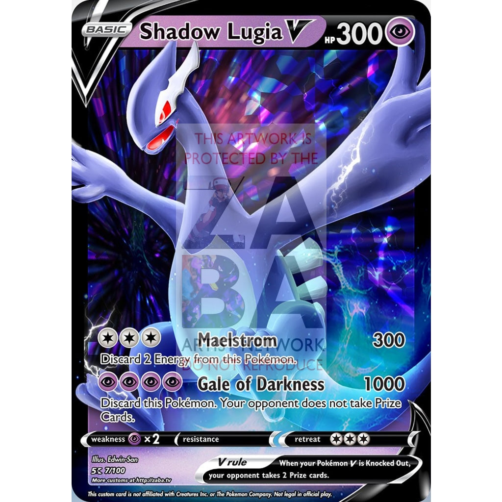 Shadow Lugia V Custom Pokemon Card Regular / Silver Foil
