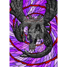 Shadow Lugia V (Stained-Glass) Custom Pokemon Card Shining Blackout / Textless Silver Foil