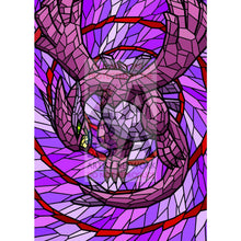 Shadow Lugia V (Stained-Glass) Custom Pokemon Card Shining / Textless Silver Foil