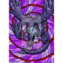 Shadow Lugia V (Stained-Glass) Custom Pokemon Card Standard / Textless Silver Foil