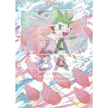 Shaymin 7/73 Shining Legends Extended Art Custom Pokemon Card Textless Silver Holographic
