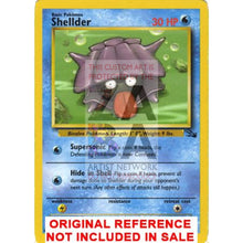 Shellder 54/62 Fossil Extended Art Custom Pokemon Card