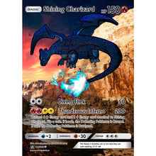Shining Charizard 2018 Extended Art Custom Pokemon Card Silver Holographic
