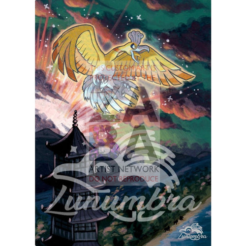Shining Ho-Oh Sm70 Alternate Art Promo Extended Custom Pokemon Card Textless Silver Holographic