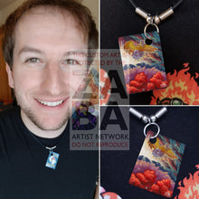 Shining Ho-Oh Sm70 Promo Extended Art Custom Pokemon Card 18 Necklace (Pic For Reference)