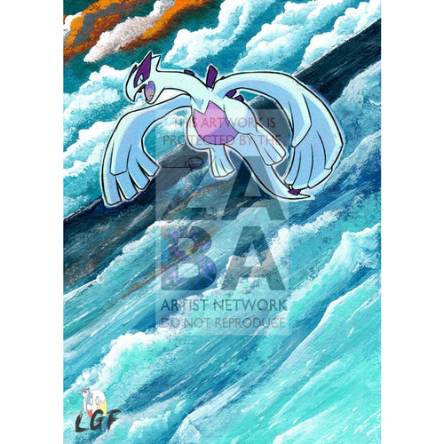 Shining Lugia Sm82 Promo Extended Art Custom Pokemon Card Silver Holo