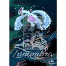 Shining Lugia Sm82 Promo Extended Art Custom Pokemon Card Textless Silver Holographic
