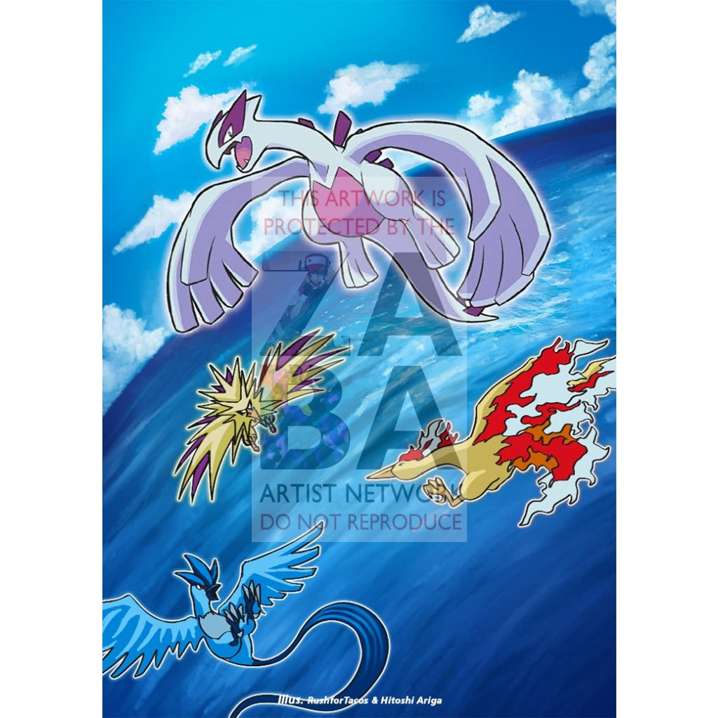 Shining Lugia Sm82 Sun & Moon Promo Extended Art Custom Pokemon Card Silver Holographic