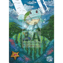 Shining Squirtle 33/214 Unbroken Bonds Extended Art Custom Pokemon Card Silver Holo
