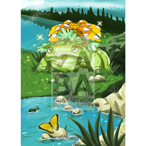Shining Venusaur 15/102 Base Set Extended Art - Custom Pokemon Card Only