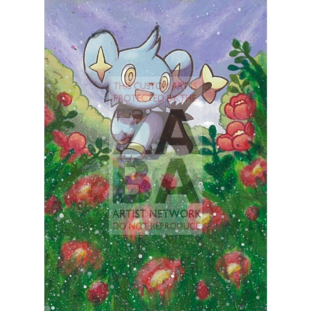 Shinx 98/124 Mysterious Treasures Extended Art Custom Pokemon Card Textless Silver Holographic