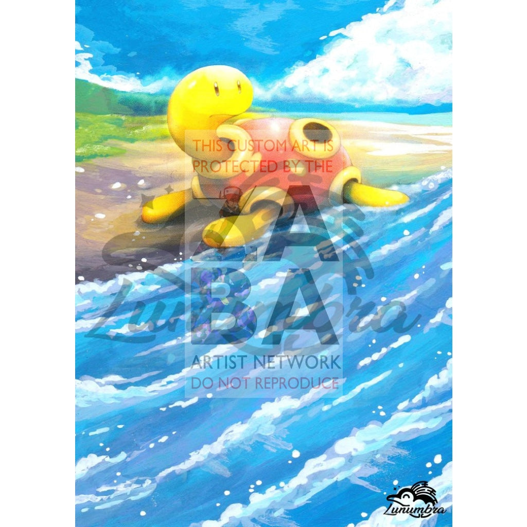 Shuckle 1/124 Xy Fates Collide Extended Art Custom Pokemon Card Textless Silver Holographic