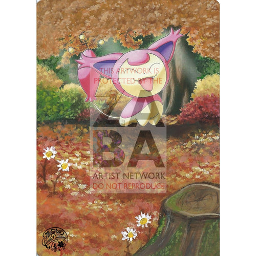 Skitty 93/127 Platinum Extended Art Custom Pokemon Card Silver Holo