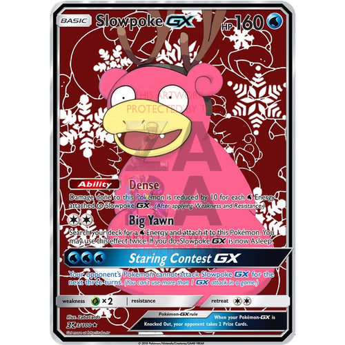 Slowpoke Gx Custom Pokemon Card Christmas