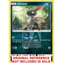Sneasel 85/147 Burning Shadows Extended Art Custom Pokemon Card 18 Necklace (Pic For Reference)