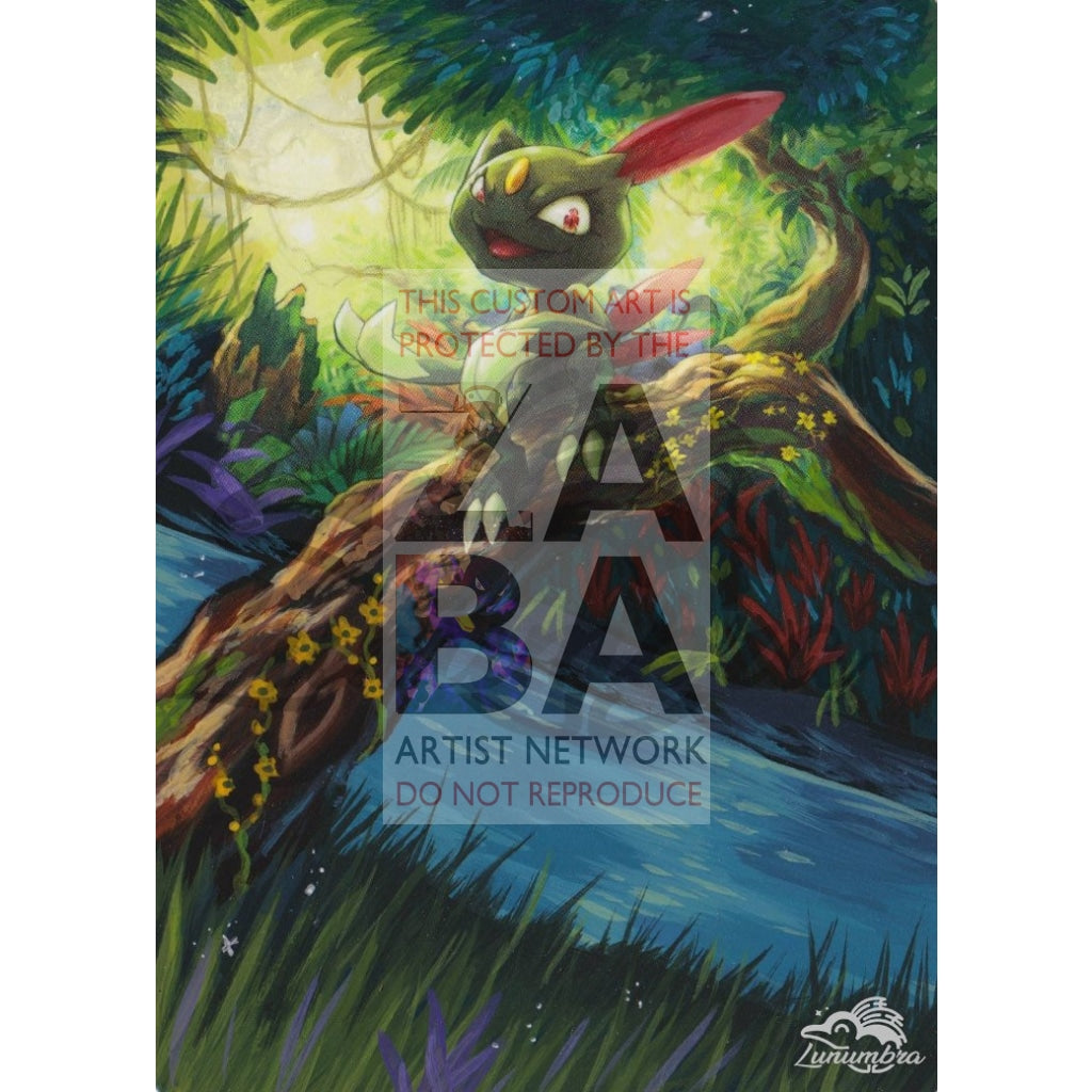 Sneasel 85/147 Burning Shadows Extended Art Custom Pokemon Card Textless Silver Holographic