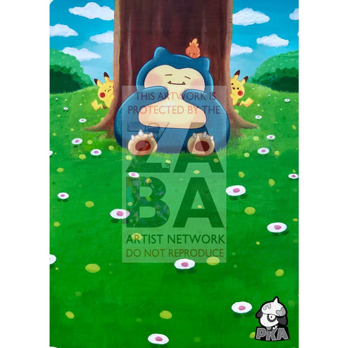 Snorlax 158/214 Unbroken Bonds Extended Art Custom Pokemon Card Silver Holographic