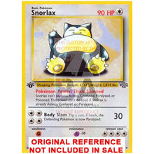 Snorlax 27/64 Jungle Set Extended Art Custom Pokemon Card