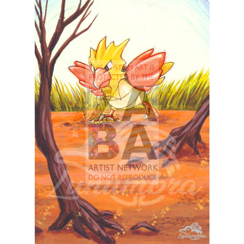 Spearow 62/64 Jungle Set Extended Art Custom Pokemon Card Textless Silver Holographic