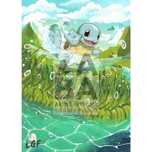 Squirtle 14/101 Plasma Blast Extended Art Custom Pokemon Card Silver Holo