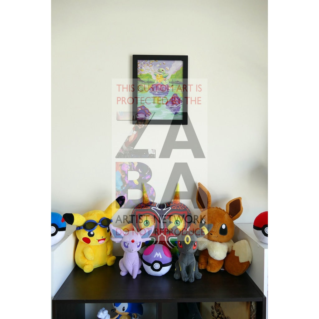 Squirtle (63/102 Base Set) 8.5 X 11 Poster Print By Lunumbra