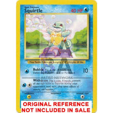 Squirtle 63/102 Base Set Extended Art - Custom Pokemon Card