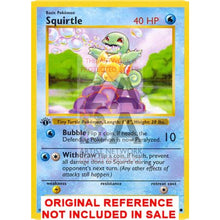 Squirtle 63/102 Base Set (+Text) Extended Art Custom Pokemon Card