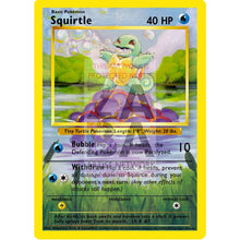 Squirtle 63/102 Base Set (+Text) Extended Art Custom Pokemon Card Silver Foil