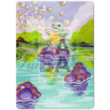 Squirtle Base Set 63/102 Extended Art Custom Pokemon Card Textless Silver Holographic