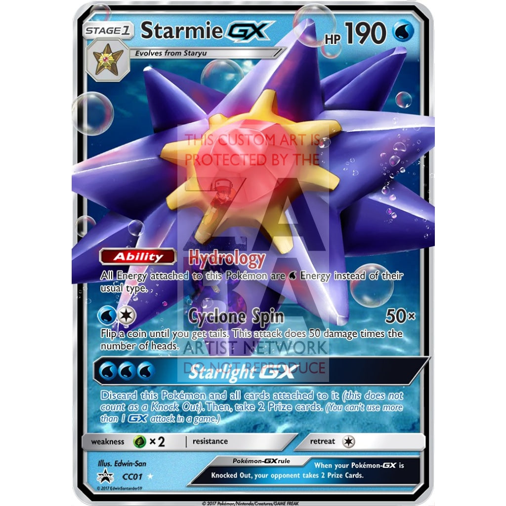 Starmie Gx Custom Pokemon Card
