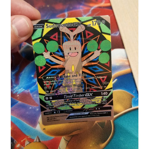 Sudowoodo Gx Custom Pokemon Card Silver Holographic
