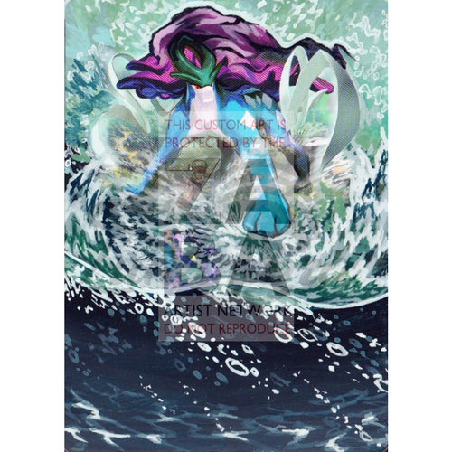 Suicune 20/101 Black & White Plasma Blast Extended Art Custom Pokemon Card Textless Silver