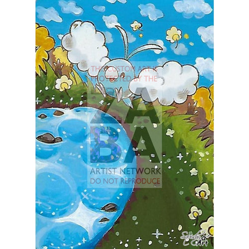 Swablu 86/106 Great Encounters Extended Art Custom Pokemon Card Textless Silver Holographic