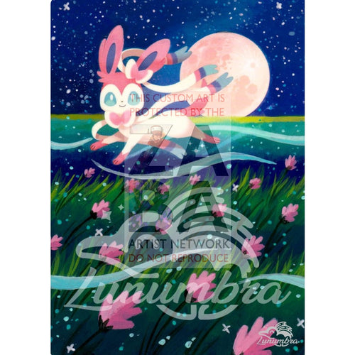 Sylveon 87/131 Sun & Moon Forbidden Light Extended Art Custom Pokemon Card Textless Silver
