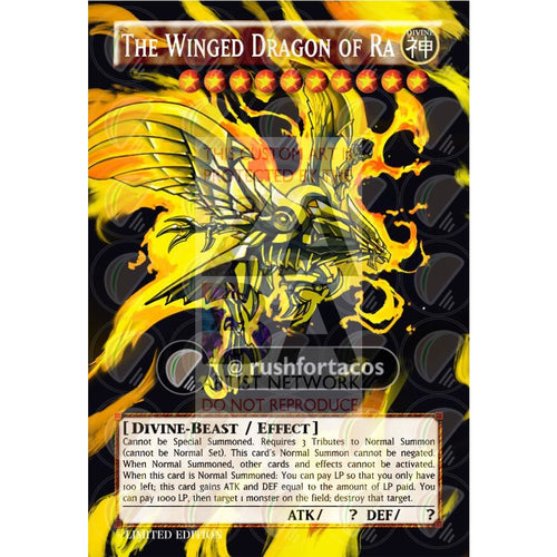 The Winged Dragon Of Ra V2 Full Art Orica - Custom Yu-Gi-Oh! Card Silver Holographic