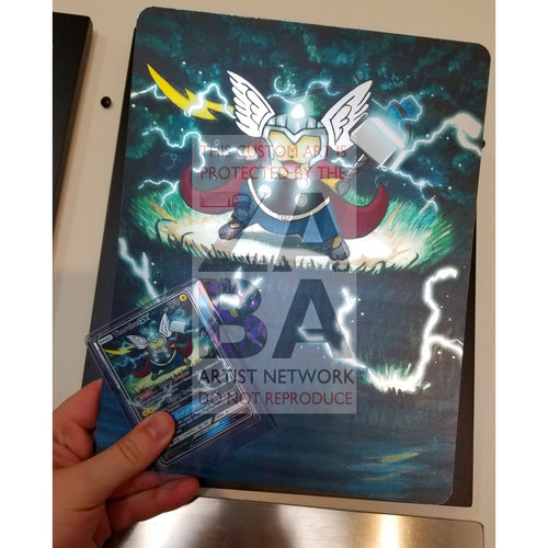 Thorchu 8X10.5 Holographic Poster + Custom Pokemon Card Gift Set