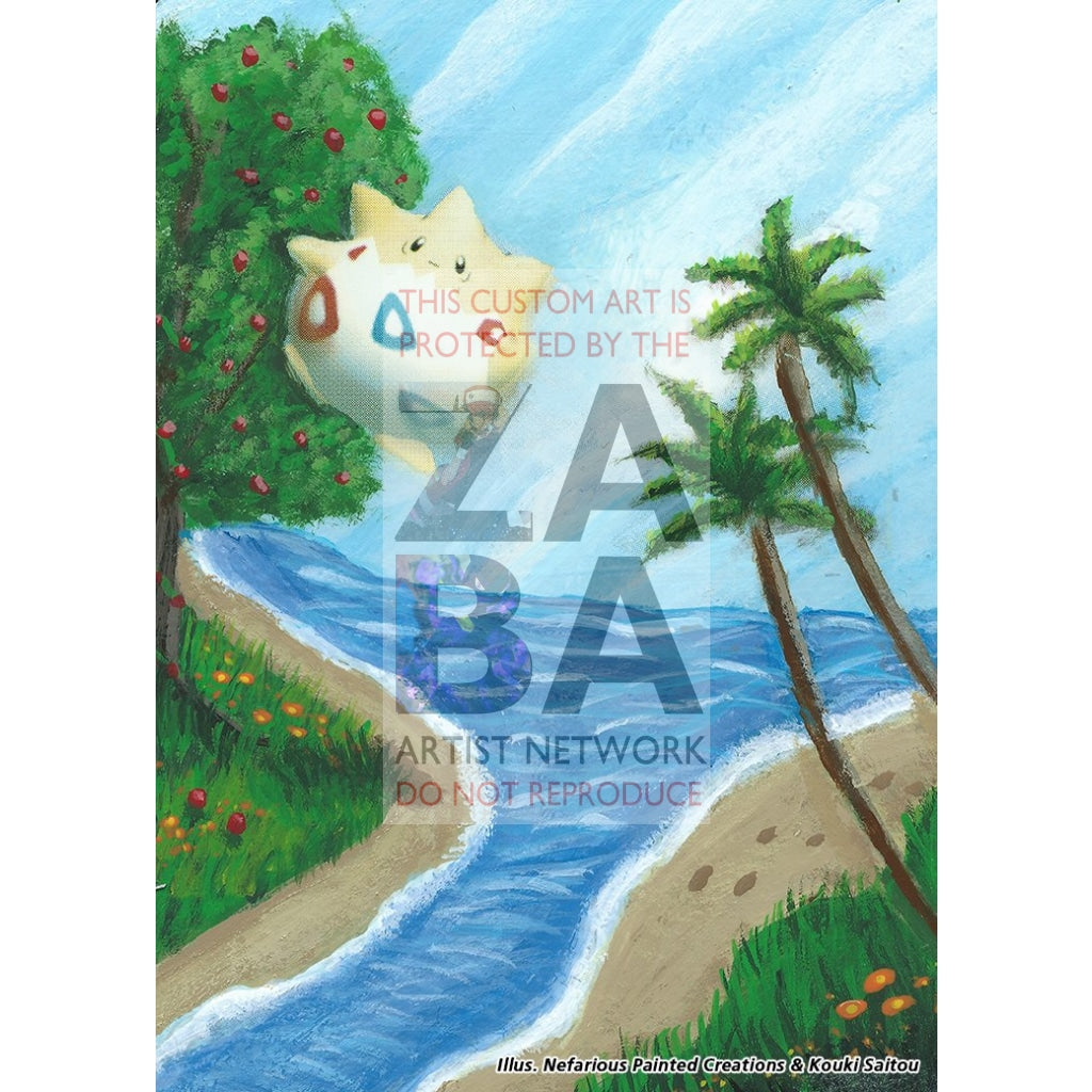 Togepi Japanese Promo Extended Art Custom Pokemon Card Silver Holo