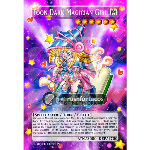 Toon Dark Magician Girl Full Art Orica - Custom Yu-Gi-Oh! Card