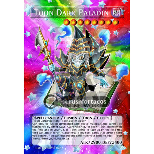 Toon Dark Paladin Full Art Orica - Custom Yu-Gi-Oh! Card