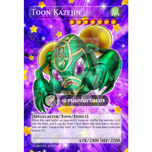 Toon Kazejin Full Art Orica - Custom Yu-Gi-Oh! Card