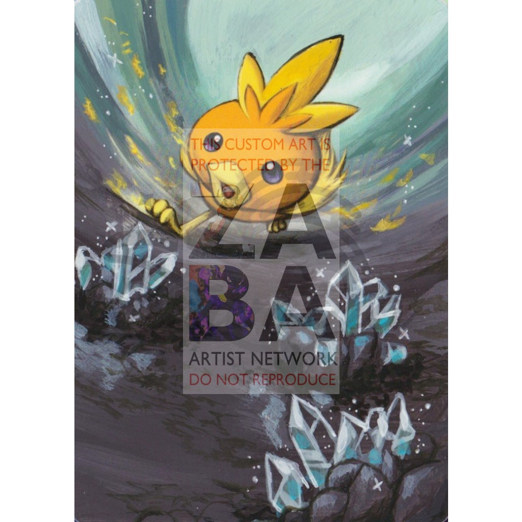 Torchic 69/106 Ex Emerald Extended Art Custom Pokemon Card Textless Silver Holographic