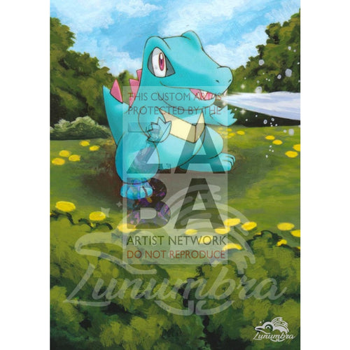 Totodile 106/123 Diamond & Pearl Mysterious Treasures Extended Art Custom Pokemon Card Textless