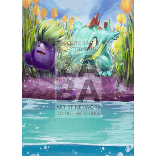 Totodile 134/165 Expedition Extended Art Custom Pokemon Card Textless Silver Holographic