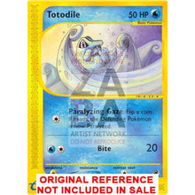 Totodile 135/165 Expedition Extended Art Custom Pokemon Card