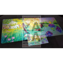 Triple Pack Bulbasaur Charmander & Squirtle 8X10.5 Holographic Posters + Cards Gift Set Custom