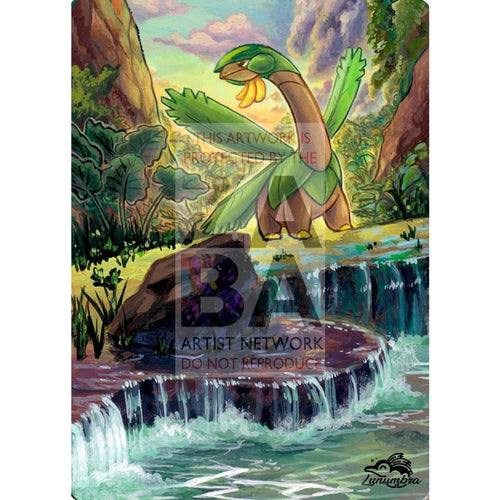 Tropius 12/136 Cosmic Eclipse Extended Art Custom Pokemon Card Textless Silver Holographic
